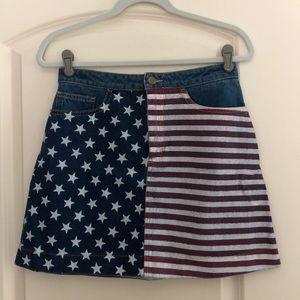 American Apparel American flag skirt